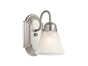Kichler New Street 1 Light Wall Sconce in Brushed Nickel